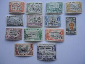Nigeria QEII 1953-8 SG69-80 1/2d-£1 MM (light)