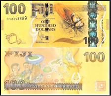 FIJI $ 100 One Hundred Dollars 2013 P-119a Flora & Fauna Bank Note Currency UNC