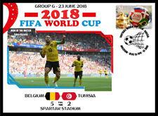 BELGIUM V TUNISIA 2018 FOOTBALL WORLD CUP GROUP G MATCH COVER - EDEN HAZARD