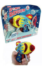 ATOMIC Raygun Friction Tin Litho Sparkling Actio Blaster Ray Gun Space Toy
