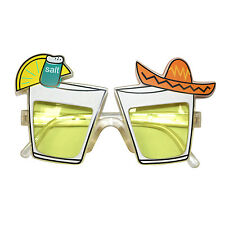 Novelty Yellow Lens Tequila Alcohol Booze Shot Fancy Dress Party Glasses