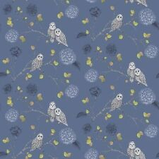 Arthouse Noche Búho Azul Medianoche Motivo Floral Papel Pared Estampado 665002