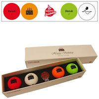 Volvik Vivid Limited Edition Happy Birthday Pack Golf Balls (4 Balls) & Hat Clip