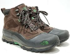 The North Face Men's 8.5 Snowfuse Insulated Boot- Ganache Brown & Green