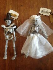 Katherine's Collection Halloween Bride & Groom Skeleton Ornaments
