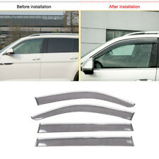 2017 2018 for Volkswagen Atlas Accessories Window Visor Vent Sun Rain Guard 4PCS