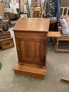 Antique Continental European Prie Dieu Prayer Kneeler Storage Cabinet