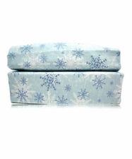 Flannel Sheet Set 160GSM Winter Penguins Ice Blue By Malibu Home