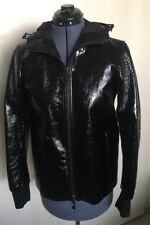 PRADA Black LEATHER JACKET & SKIRT SET Italy Couture BARRIE CHASE COLLECTION