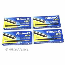 20 PELIKAN 4001 GTP/5 Brilliant Black Large Ink Cartridges - European Standard