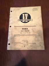 FORD I&T TRACTOR SHOP SERVICE REPAIR MANUAL BOOK 8000 9000