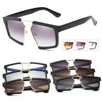 2019 Men & Women's Square Gradient color Glasses Large Sunglasses Big Oversized