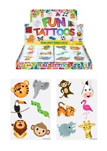 24 x New Jungle Animal Temporary Tattoos for Kids Party Bags
