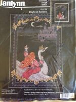 Flight of Fantasy counted cross stitch kit Janlynn 1992 sealed