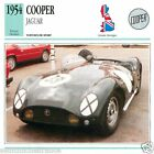 COOPER JAGUAR 1954 CAR VOITURE Great Britain GRANDE BRETAGNE CARTE CARD FICHE