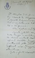 Lettera manoscritta con autografo - Generale Carlo Genè - 1880 ca. Massaua