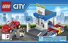LEGO City Repair Garage Service Centre & Car With 2 Minifigures From Set 60097