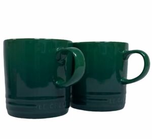 Le Creuset Stoneware Coffee Mug  2 Piece Set Green 12 oz Tea Mug