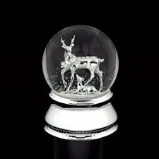 Musical Reindeer & Fawn Snow Globe Water Ball - We Wish You a Merry Christmas