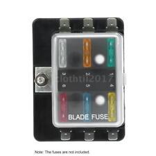 12V/24V 6WAY BLADE FUSE BOX HOLDER BUS BAR LED FAILURE WARNING LIGHTS