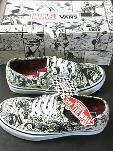 Vans x Marvel Authentic Women's shoes Black White Multi Size 7 NEW WITH BOX