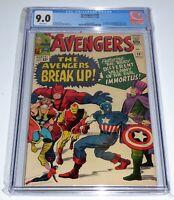 Avengers #10 CGC Universal Grade Comic 9.0 1st Immortus Baron Zemo Enchantress