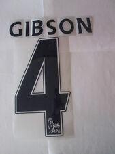 Gibson 4 Everton Football Shirt nome impostato Adulto Sportive ID replica size