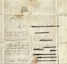 1784  PAYD PENY POST TEMPLE DOCKWRA TYPE L357 RE-USED 1821 AS LEGAL MEMO LONDON!