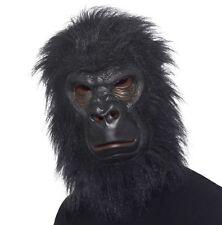Gorilla Fancy Dress Mask Full Head Latex & Fur Monkey Mask by Smiffys
