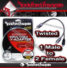 Rockford Fosgate RFIY - 1M 1 maschio a 2 Donna Twisted Pair Y-Adattatore Splitter