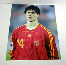 XABI ALONSO REAL MADRID SPAIN WORLD CUP 2014 SIGNED AUTOGRAPH 11X14 PHOTO COA