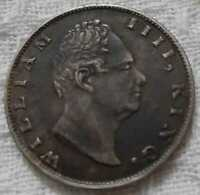 1835 WILLIAM IIII KING EAST INDIA COMPANY ONE RUPEE RARE SILVER COIN