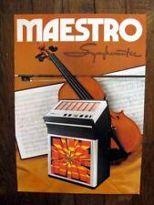 Juke Box Symphomatic Maestro 120 Flyer publicité