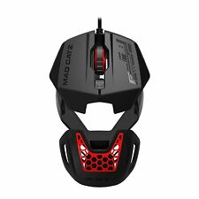 Mad Catz RAT1 Wired Optical Gaming Mouse - Black / Red