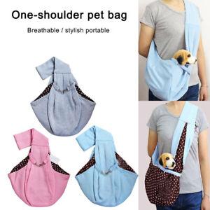 Small Pet Dog Cat Sling Carrier Bag Travel Tote Pouch Shoulder Carry Handbag