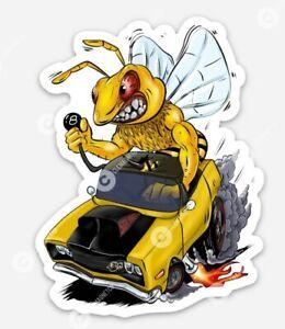 Muscle Car Bee STICKER - Compatible Vinyl Muscle Car Rat Fink Hornet Six