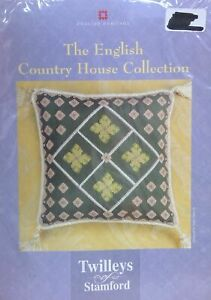 TWILLEYS OF STAMFORD CROSS STITCH -ENGLISH HERITAGE COLLECTION 'DIAMOND FLORAL'
