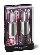 Cole & Mason Precision Bobbi Ensemble de Moulins Poivre/sel en Acrylique Avec...