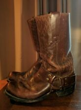 CLASSIC VINTAGE 70'S SEARS LEATHER motorcycle HARNESS BIKER BOOTS BROWN 8 8.5 M