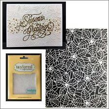 Christmas embossing folders Peaceful Poinsettia folder Taylored Expressions