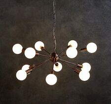 Large Copper Sputnik Ceiling Pendant Light Chandelier Industrial Design + bulbs