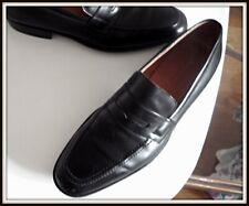 Chaussures mocassins JM weston 7 E 42 cuir noir shoes homme vintage