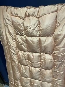 Vintage Feather Filled quilted beautiful English Eiderdown bedspread Landsdown