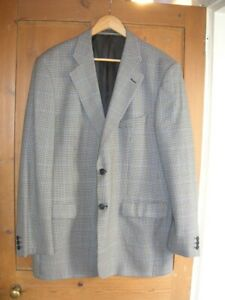 SALE Mens M & S Houndstooth JACKET 44in Chest Long Vintage 40's 50's Style