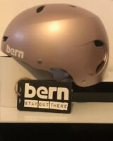 Bern 'Brighton' Women's Urban Safety Helmet Satin Rose Gold Size XS