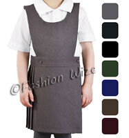 Ages 3-18 Girls School Pleated Pinafore with Side Pocket Tunic School Uniform 4 Colours Teflon Stain Resistant Mischief