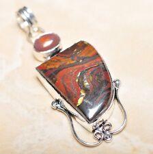 "Handmade Pietersite Quartz  Gemstone 925 Sterling Silver Pendant 2.5"" #P15006"