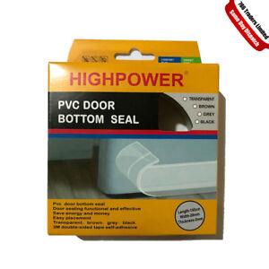 Draught Excluder PVC Door SEAL Strip Storm guard PVC Plastic Bottom Door Garage