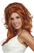 Femme sexy strawberry blonde wig fancy dress custome tête complète perruque parti