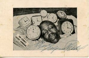 STEPIN FETCHIT (Lincoln Perry) vintage AUTOGRAPHED Post Card 1940s